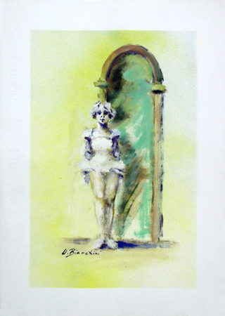 Quadro di Umberto Bianchini Ballerina - tempera carta
