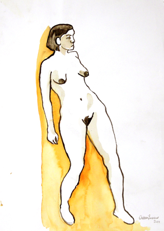 Quadro di Luciano Ascenzi Nudo - Pittori contemporanei galleria Firenze Art