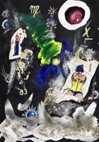 Quadro di Massimo Podestà - Nel segno della Vergine mista carta