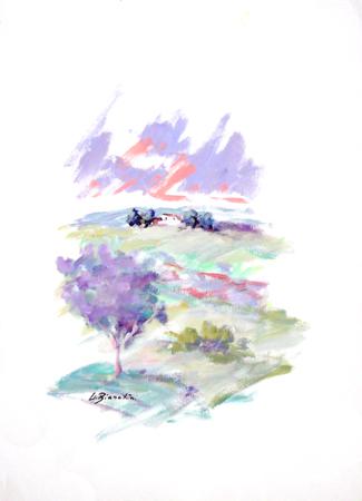 Quadro di Umberto Bianchini Paesaggio - tempera carta