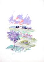 Quadro di Umberto Bianchini - Paesaggio tempera carta
