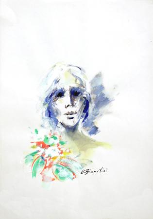 Quadro di Umberto Bianchini Lei, tempera su carta 50 x 35 | FirenzeArt Galleria d'arte