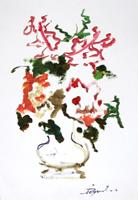 Quadro di Luigi Pignataro - Vaso di fiori olio carta