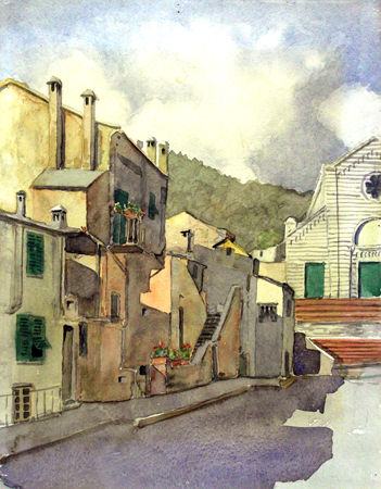 Art work by  Anonimo Scorcio cittadino - watercolor paper