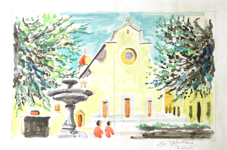 Art work by Luigi Pignataro Santo Spirito - watercolor paper