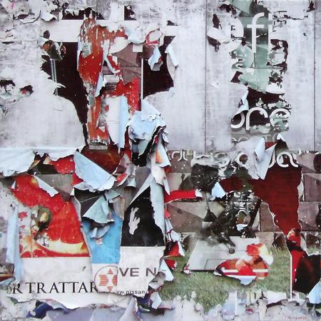 Art work by Andrea Tirinnanzi Strappo sul muro - digital art paper on table