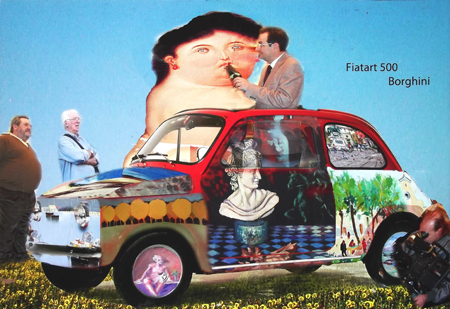 Quadro di Andrea Tirinnanzi Fiatart 500 Borghini - digital art tela