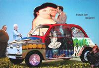 Quadro di Andrea Tirinnanzi - Fiatart 500 Borghini digital art tela