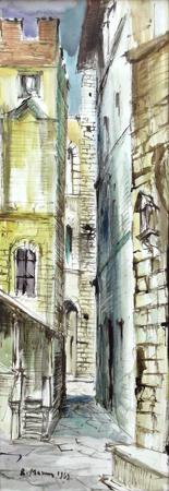 Art work by Rodolfo Marma Palagio di Parte Guelfa - watercolor paper