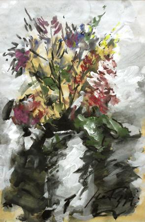 Quadro di Sergio Scatizzi Fiori - mista carta