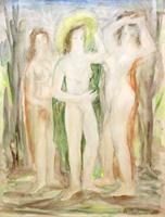 Quadro di Edmondo Prestopino - Figure acquerello carta