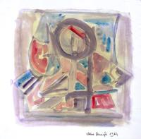 Quadro di Alvaro Baragli - Astratto mista carta