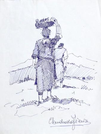 Quadro di Claudio da Firenze Gabbrigiana - penna biro carta