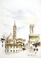 Quadro di Elio Bargagni  Piazza San Firenze