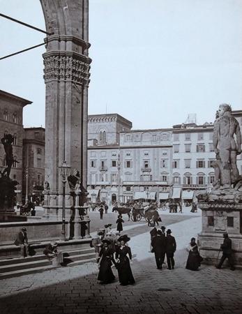 Quadro di  Antiquariato Piazza della Signoria - stampa carta