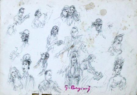Quadro di Guido Borgianni Figure - lapis carta