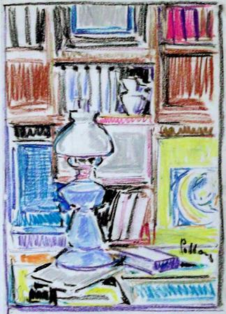Quadro di Silvio Polloni Interno - pastello carta