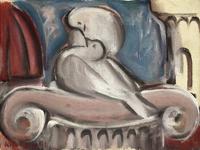 Quadro di Giorgio Polykratis  Amore tra colombe