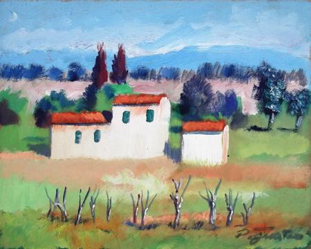 Quadro di Luigi Pignataro Paesaggio - acrilico faesite