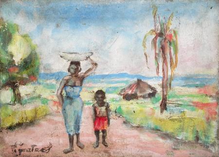 Quadro di Luigi Pignataro Africa - olio tela