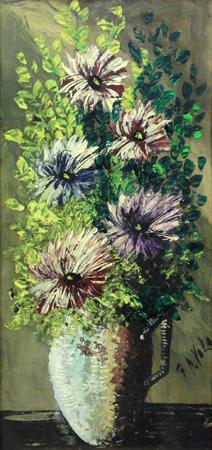 Quadro di Giorgio Di Volo Vaso di fiori - olio cartone