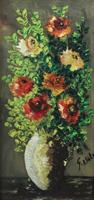 Quadro di Giorgio Di Volo - Fiori olio cartone