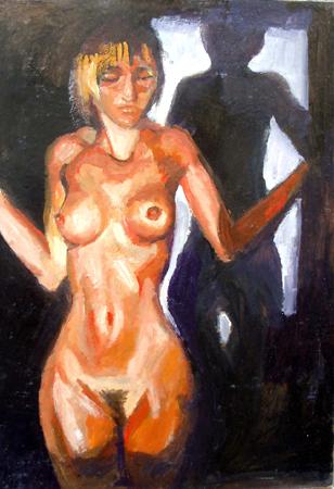 Quadro di Luigi Pignataro Figura allo specchio - olio tavola