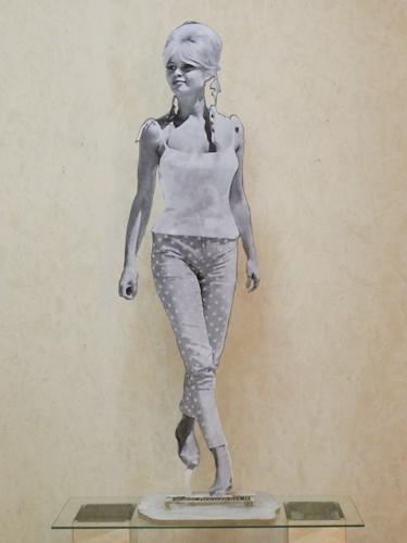 Quadro di Andrea Tirinnanzi Brigitte Bardot - Pittori contemporanei galleria Firenze Art