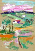 Quadro di Luigi Pignataro - Paesaggio tempera carta