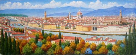 Quadro di giuliano piazzini firenze da piazzale michelangelo for Vendita dipinti online