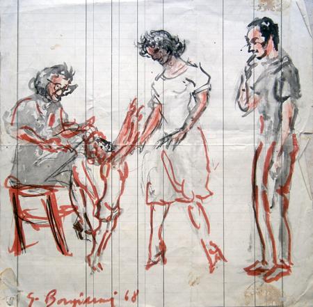 Art work by Guido Borgianni Vita familiare - mixed paper