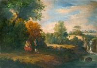 Oreste Zucchelli - Paesaggio ottocentesco