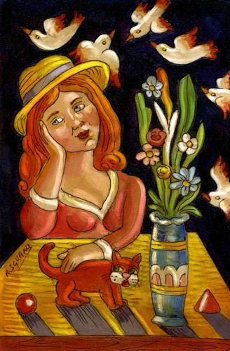 Artwork by Roberto Sguanci, acrylic on cardboard | Italian Painters FirenzeArt gallery italian painters