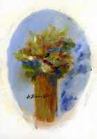 Work of Umberto Bianchini - vaso di fiori oil canvas