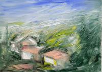 Quadro di Vanessa Katrin  Paesaggio di campagna