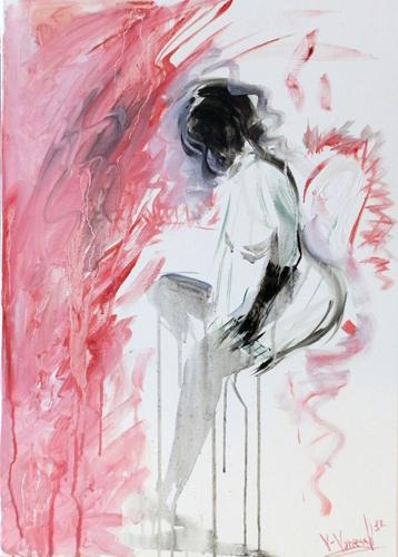 Quadro di Vanessa Katrin La provocazione è donna - olio tela