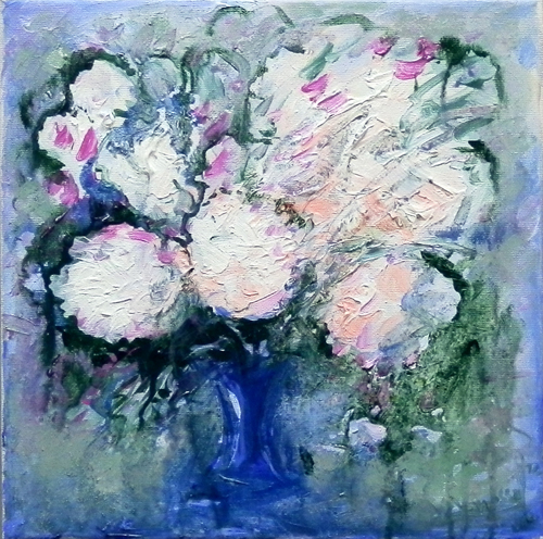 Art work by Vanessa Katrin Vaso di fiori - oil canvas