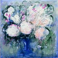 Work of Vanessa Katrin - Vaso di fiori oil canvas