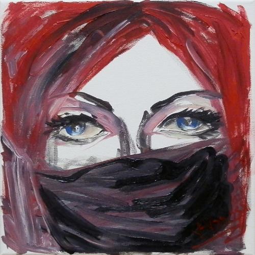 Art work by Vanessa Katrin Senza parole - oil canvas