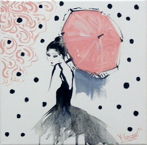 Quadro di Vanessa Katrin Vorrei nascondermi - olio tela