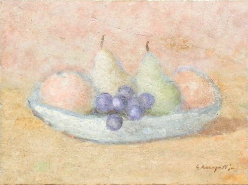 Art work by Ghino Baragatti Frutta sul Piatto - fresco table