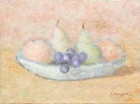 Quadro di Ghino Baragatti - Frutta sul Piatto affresco tavola