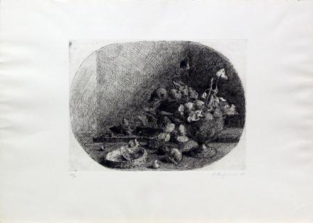 Quadro di Renato Alessandrini Composizione - incisione carta