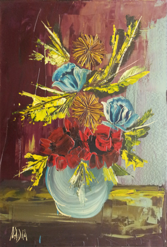 Art work by  Nadia Vaso di fiori - oil hardboard