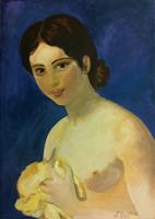 Quadro di M. Brilli - Ritratto olio tela
