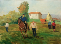 V. De Robertis - Paesaggio contadino