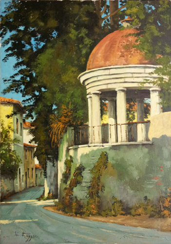 Art work by  Ruggeri Gazebo a Bellosguardo - oil canvas