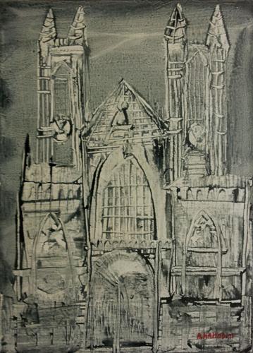 Quadro di Alfredo Nannoni Catedrale - olio tela