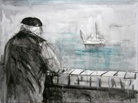 Quadro di Vanessa Katrin  Guardare il mare