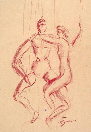 Art work by Luigi Pignataro Figura - blood paper